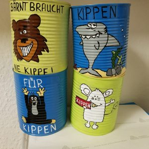 Kippendose_Rheincleanup Zons - Motiv 4er Set