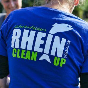 T-Shirt mit Rhein Clean Up Dormagen Logo