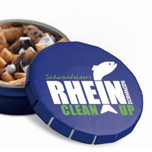 Taschen-Aschenbecher mit Rhein Clean Up Logo